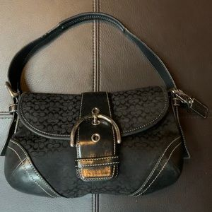 Coach Purse in black and leather
